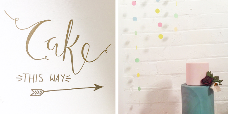 yummy little cakes polly and me calligraphy modern sign writing nottingham studio 5