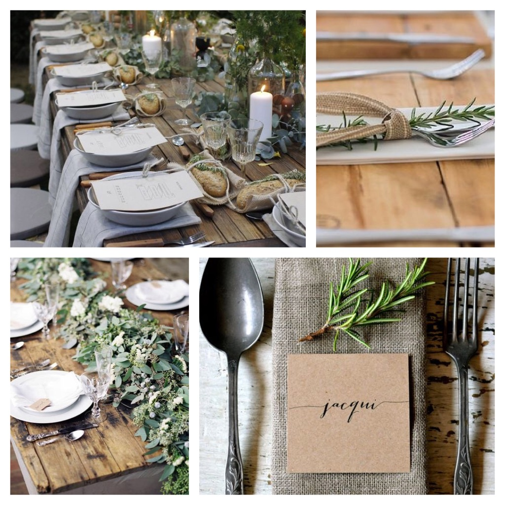 outdoor entertaining table decor place setting