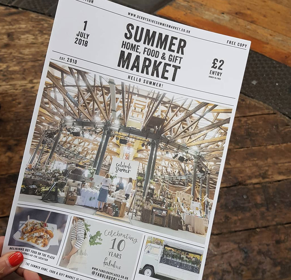 derbyshire summer market presented by fabulous places at the roundhouse, derby